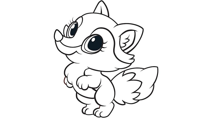 lovely fox coloring page free printable coloring pages for
