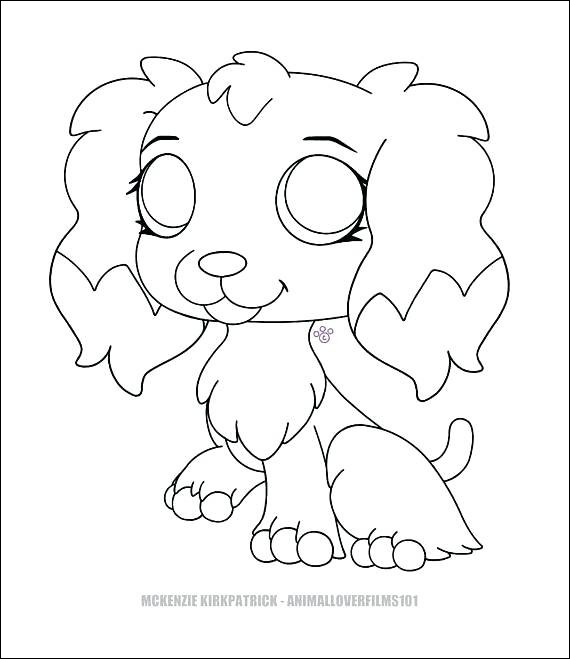 lps printable coloring page new photos lps dog coloring