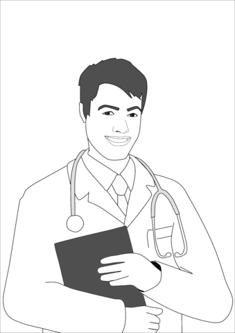 man doctor coloring page free printable coloring pages