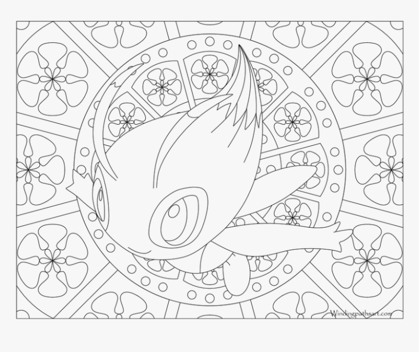 mandala pokemon coloring pages hd png download