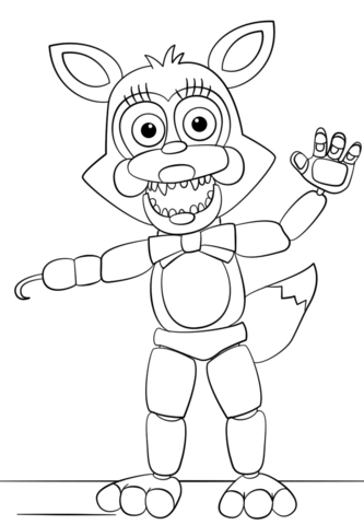 mangle from five nights at freddys coloring page free