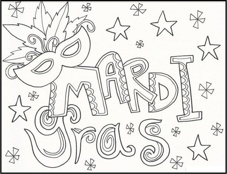 mardi gras coloring pages free and printable