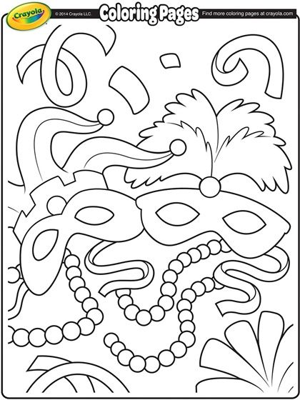 mardigrascoloringpages mardi gras coloring page