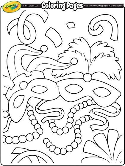 mardigrascoloringpages mardi gras coloring page