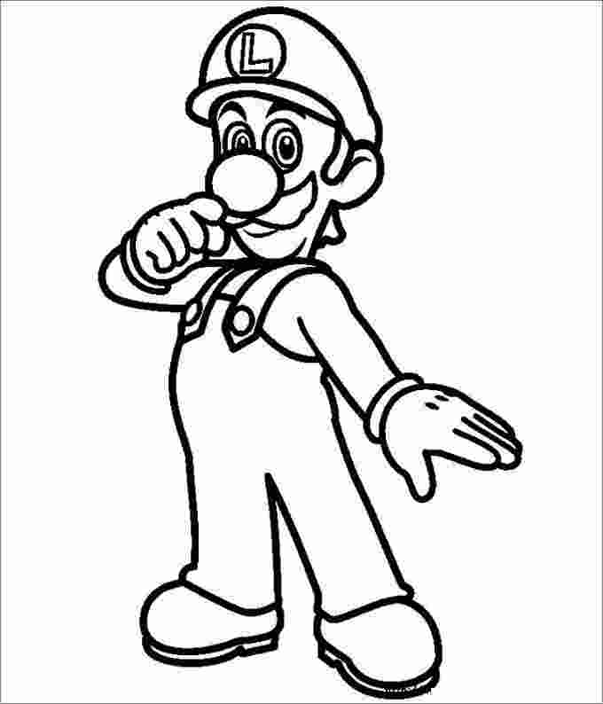 mario bros luigi coloring pages free printable luigi