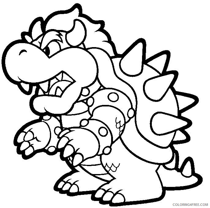 mario kart bowser coloring pages coloring4free