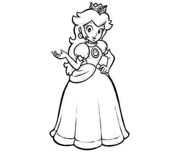 Princess Peach Coloring Pages Idea Whitesbelfast