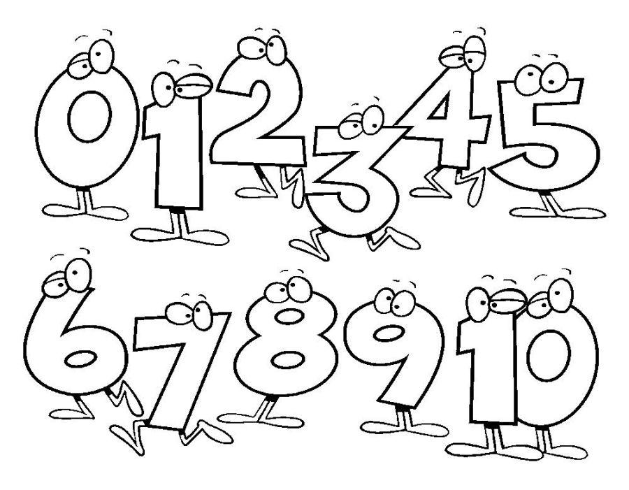 math coloring pages kindergarten malvorlagen zahlen