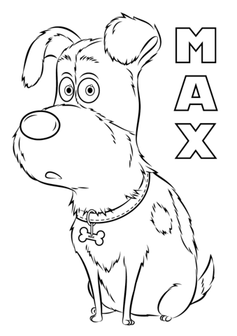 max from the secret life of pets coloring page free