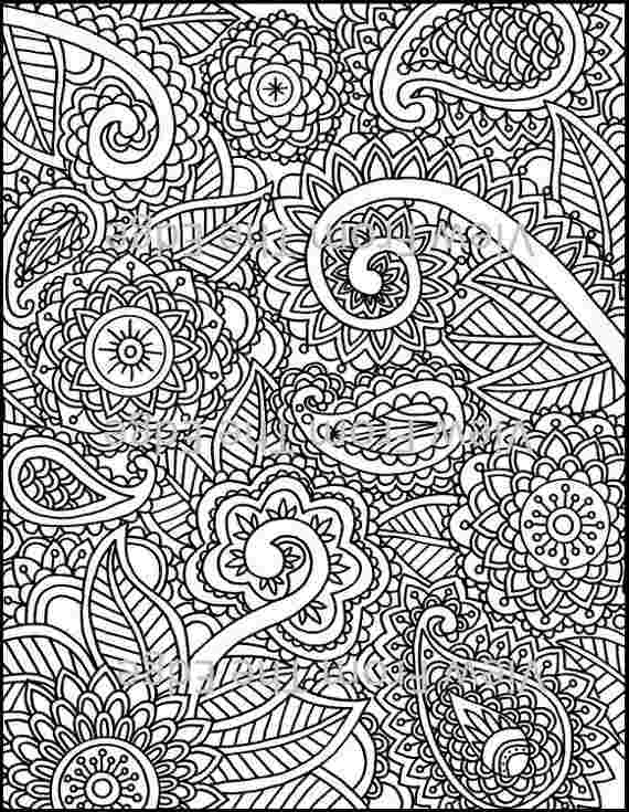 mehndi designs coloring book pages pomorski