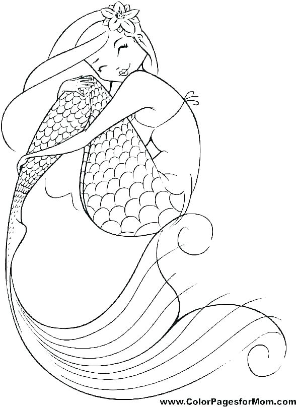 mermaid coloring pages printable free little sheet tesopro