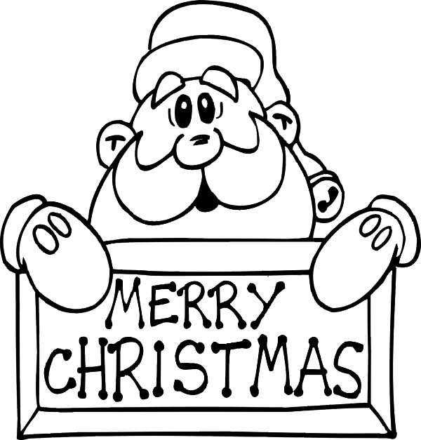 merry christmas santa claus coloring pages coloring sky