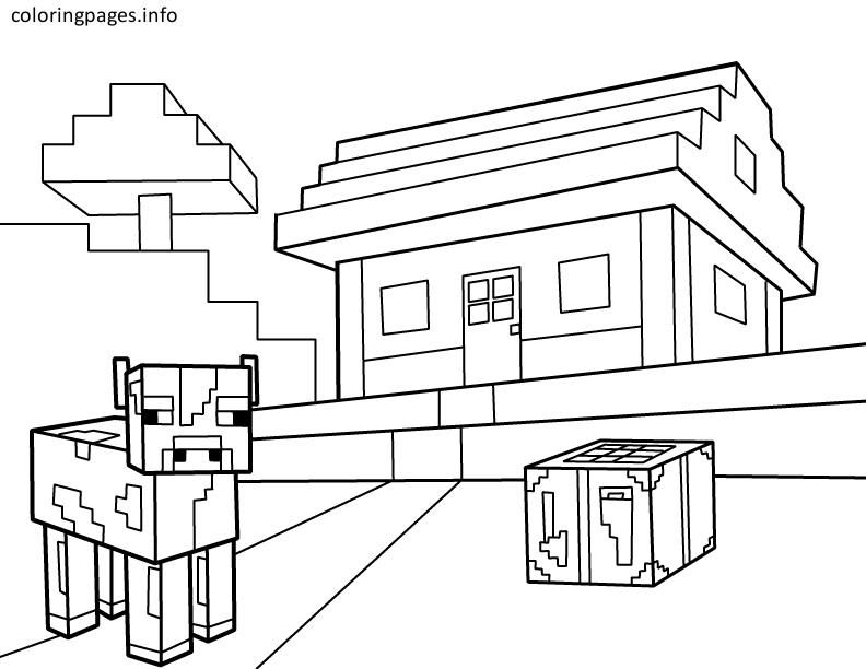 minecraft house coloring page minecraft coloring pages