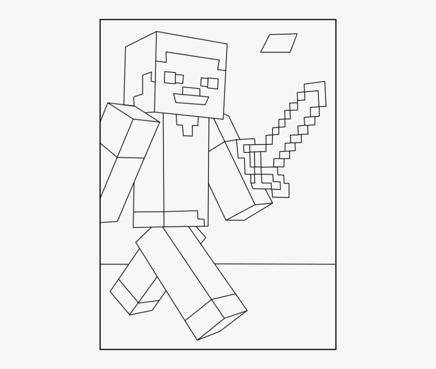 minecraft steve coloring pages minecraft steve and alex