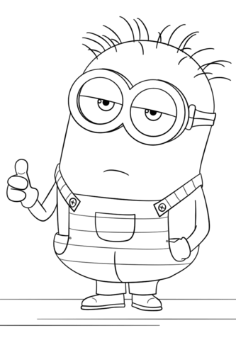 minion from despicable me 3 coloring page free printable