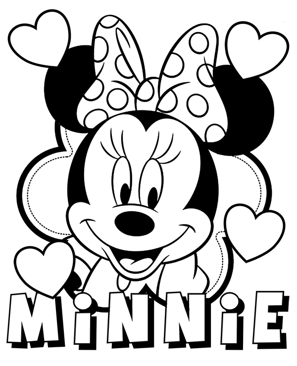 minnie mouse on disney coloring pages for girls