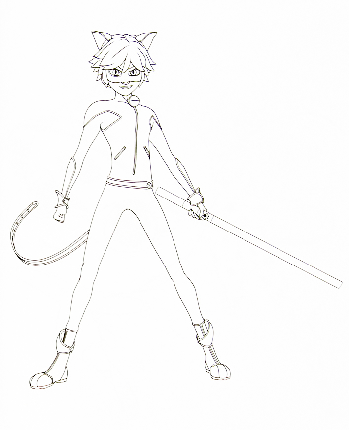 miraculous ladybug and cat noir coloring pages coloring