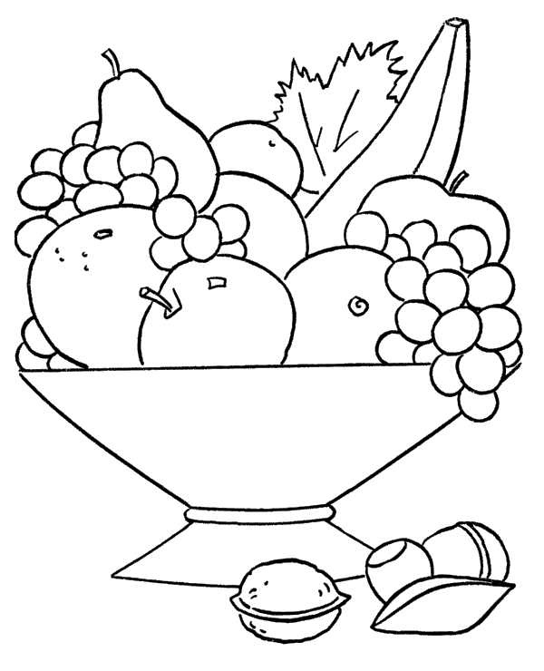 mixed fruit coloring pages kleurplaat fruit kleurplaat fruit