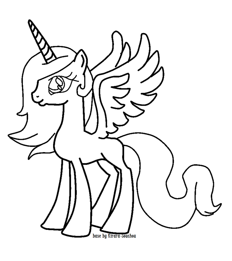 mlp alicorn coloring pages gallery fun for kids
