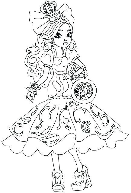 monster high color pages free ever after high coloring pages