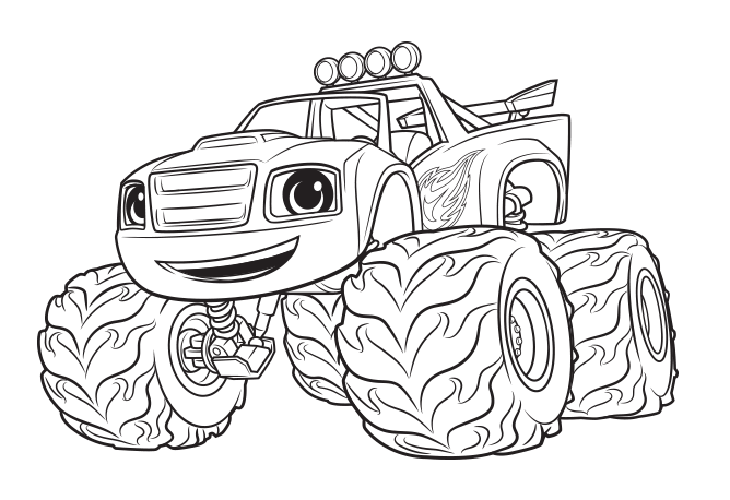 monster machine coloring pages blaze ausmalbilder