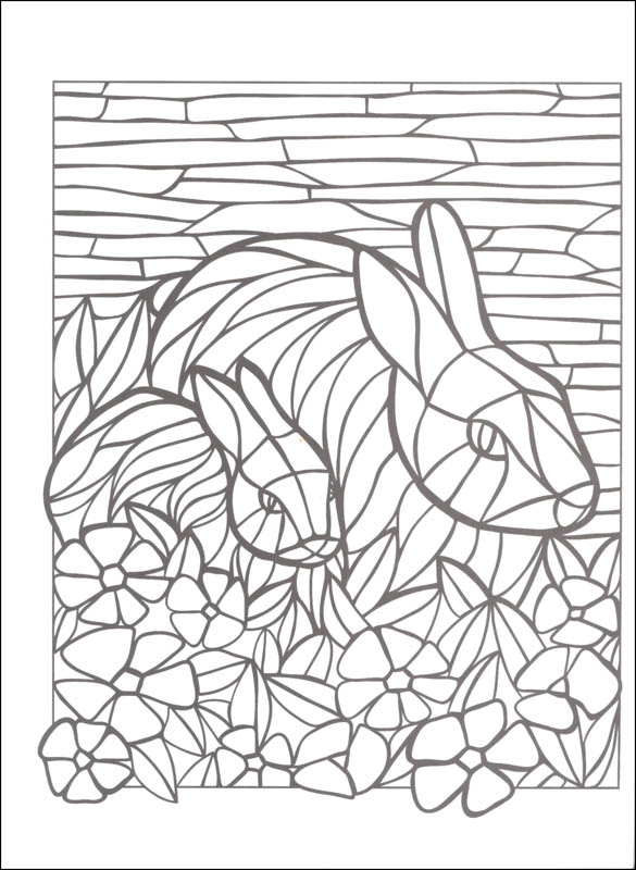 mosaic animal coloring pages to print fun for kids