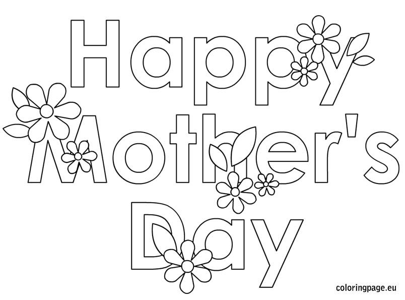mothers day coloring page mothers day colors mothers