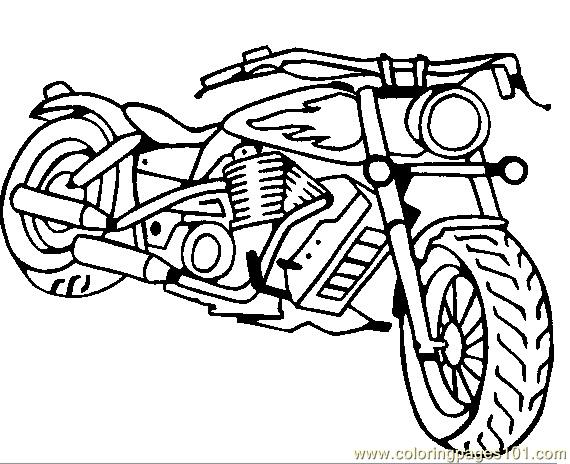motorcycle coloring page free bikes coloring pages