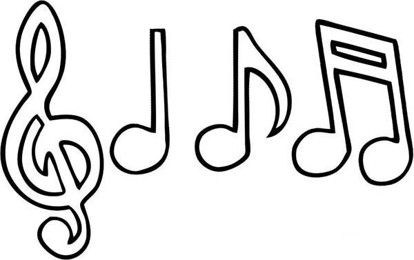 music notes coloring page clip art library