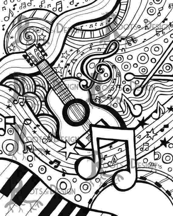 music notes coloring pages for adults huangfei