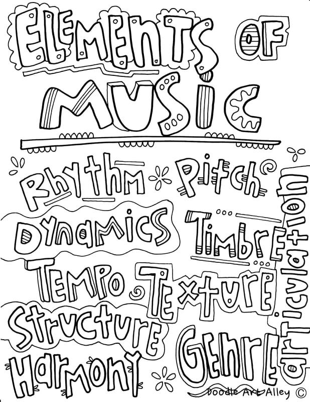musical elements classroom doodles