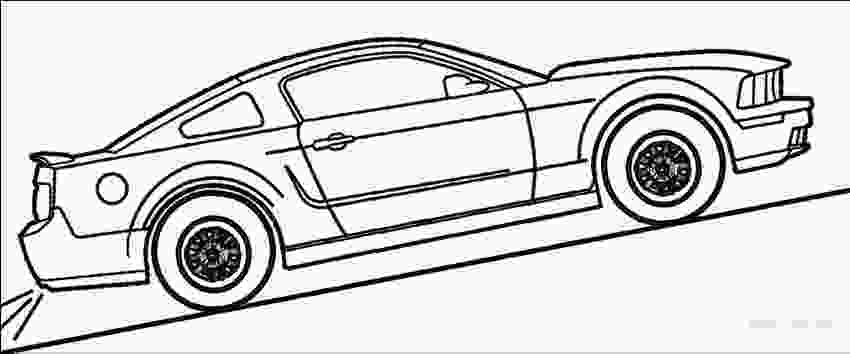 mustang coloring 67 mustang drawing at getdrawingscom free