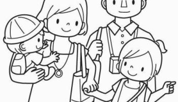 Free coloring pages about family that you can print out for your ... | 200x350