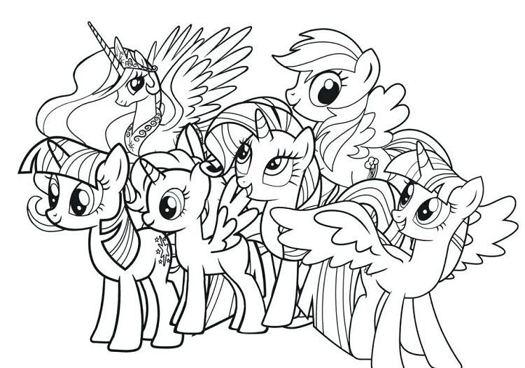 my little pony coloring pages full size from new picts