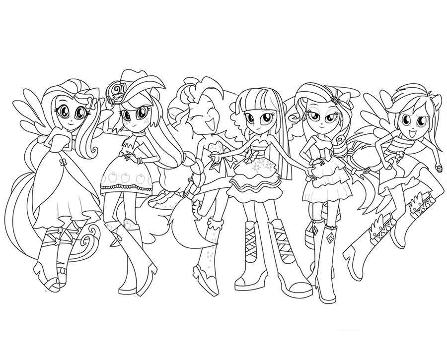 my little pony equestria girls coloring pages at getdrawings