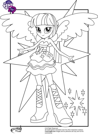 my little pony equestria girls coloring pages twilight