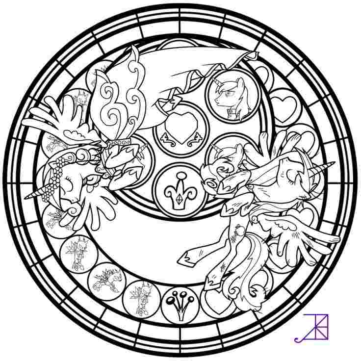 my little pony stained glass coloring pages my little pony