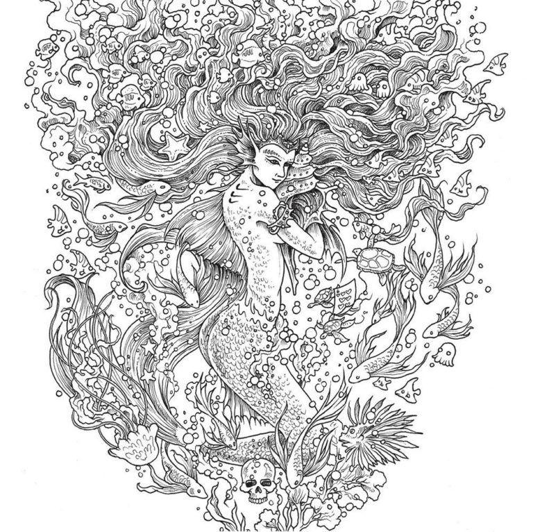 mythomorphia mermaid coloring book mermaid coloring book
