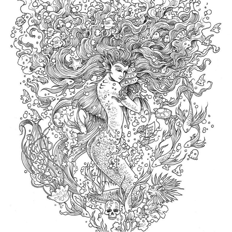 mythomorphia mermaid coloring book mermaid coloring book