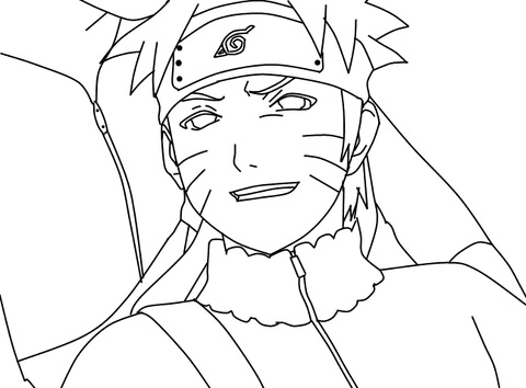 naruto coloring page free printable coloring pages