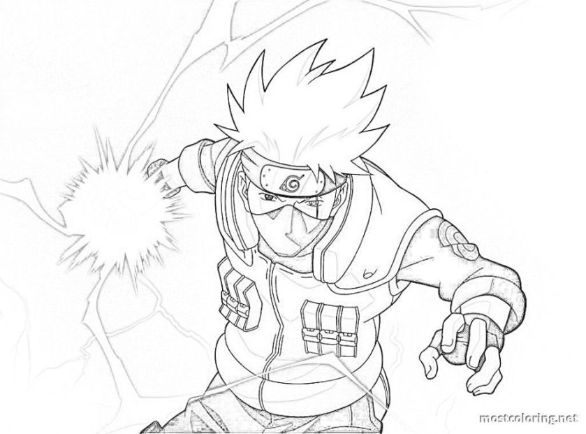 naruto coloring pages kakashi coloring pages printable