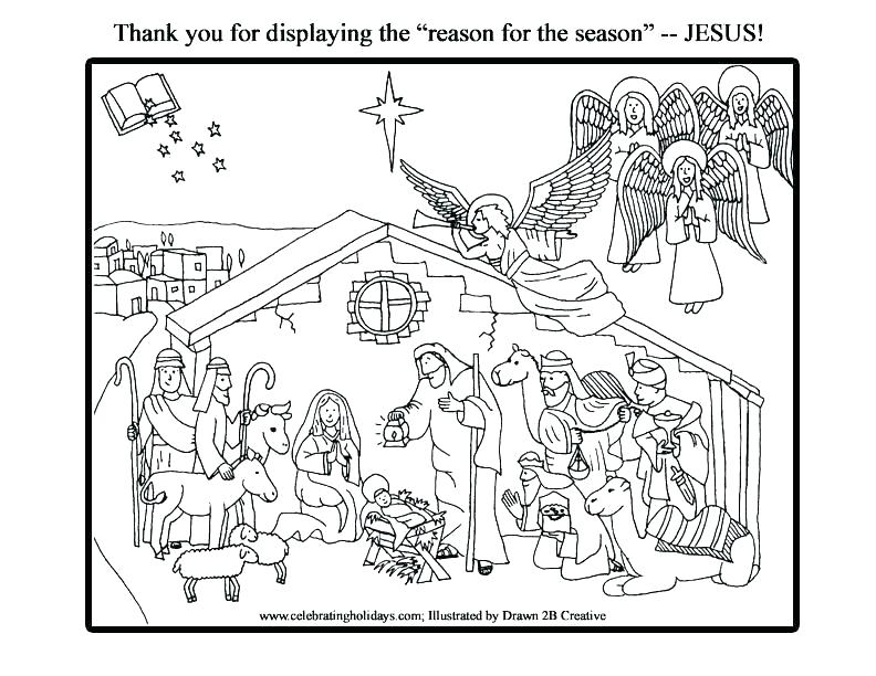 nativity coloring book printable pusat hobi