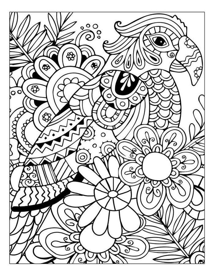 nature stress relief coloring pages fun for kids