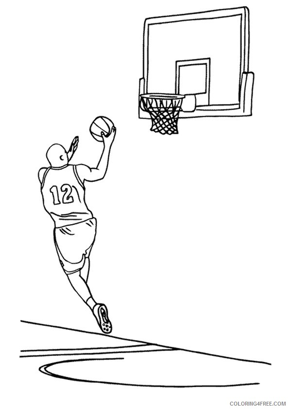 nba coloring pages to print coloring4free coloring4free