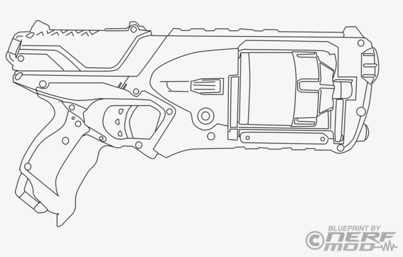 nerf gun coloring pages 92277 technical drawing