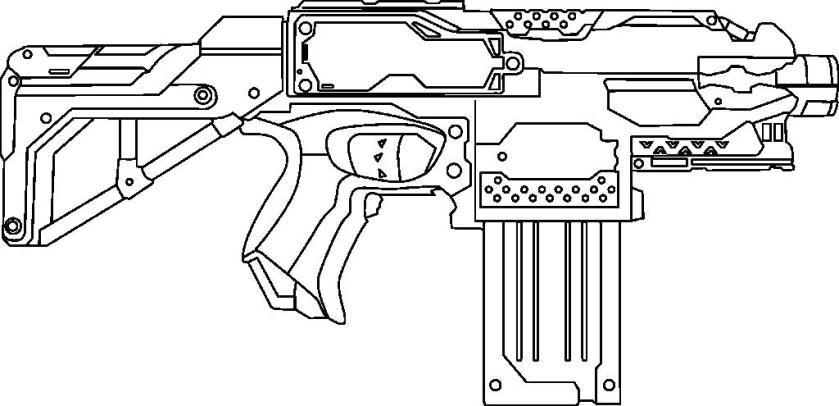 nerf gun coloring pages free printable desizoneclub