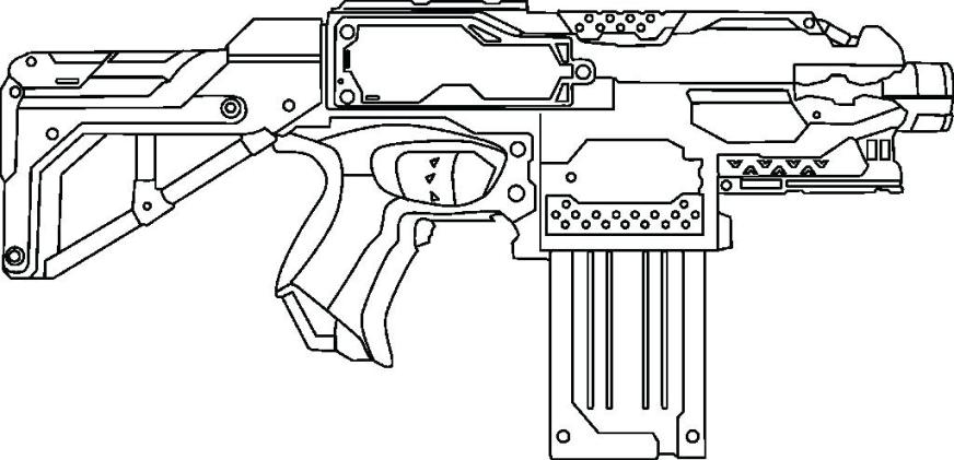 nerf gun coloring pages free printable desizoneclub