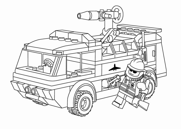 new coloring pages lego city police station 60210 fire