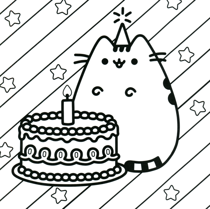 new coloring pages pusheen of the cat colouring sheet