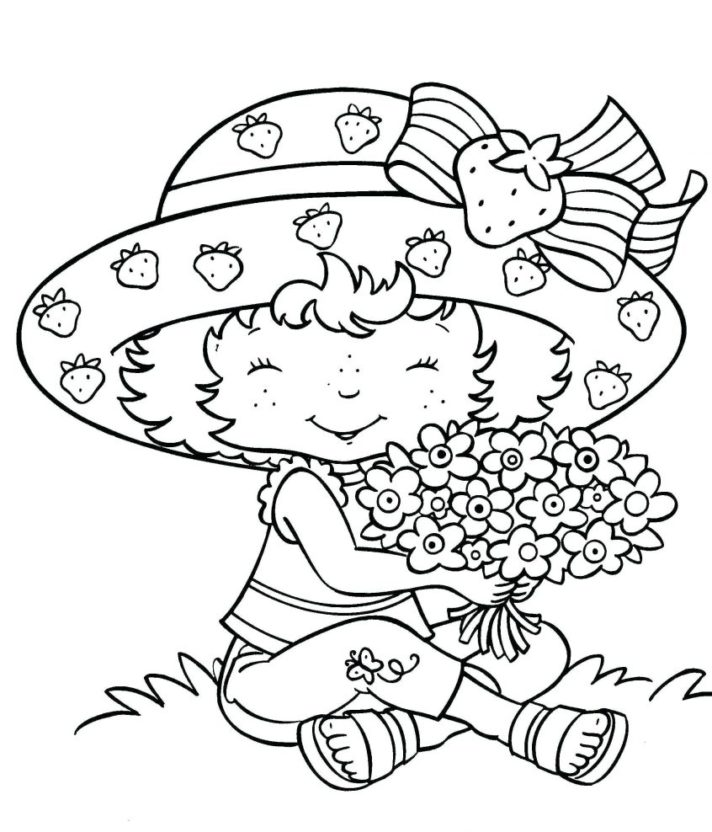 new coloring pages strawberry shortcake and friends sara